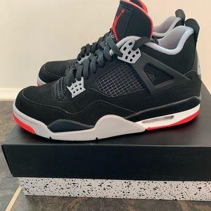 Air Jordan 4 Retro Black, Fire Red, Cement Gray